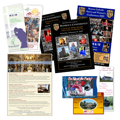 brochures, posters, postcards