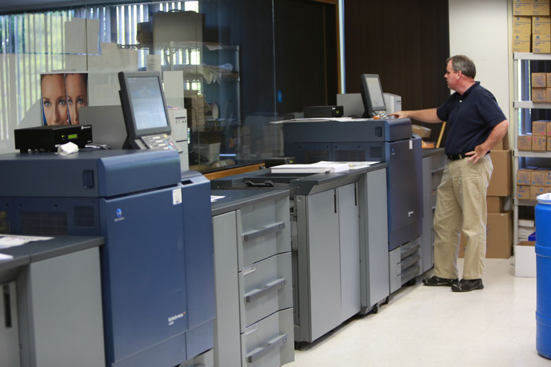 Some of Pilot Printing's state-of-the-art digital color printers