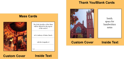 Custom-printed greeting cards