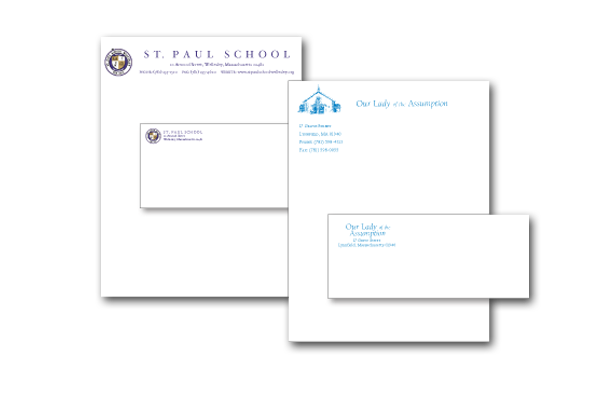 Parish and School Letterhead and Envelopes