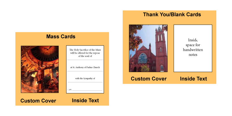 Thank You Cards and Mass Cards