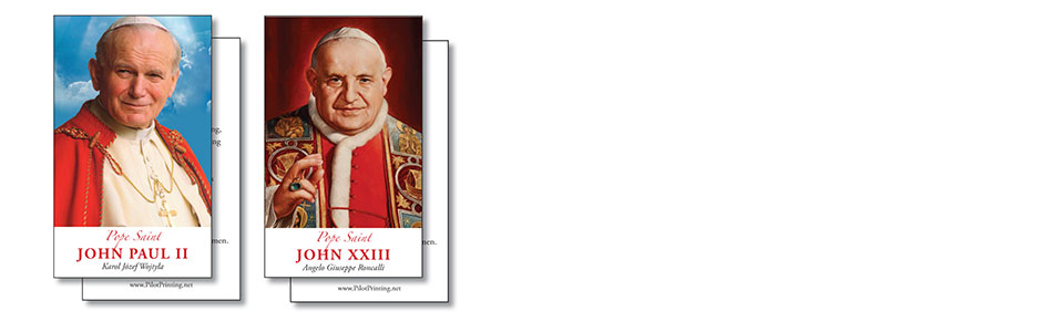 Prayer Cards for the Canonization of Saints John Paul II and John XXIII