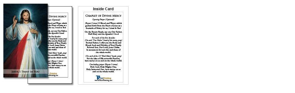 Divine Mercy Prayer Cards